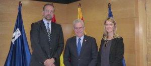 Lloyd Milen amb l'alcalde Pere Granados