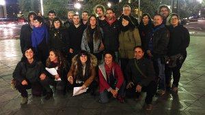 Membres de la llista s'han reunit aquest dijous a la tarda a la plaça Imperial Tàrraco de Tarragona, al mateix lloc on hi va haver les càrregues l'1-O.