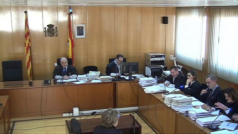 Captura de pantalla de la declaració de la mare de Ramon Franch en el judici que se celebra a l'Audiència de Tarragona.