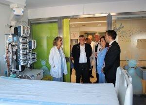 Aquest divendres s'ha fet la visita oficial a la nova UCI pediàtrica de l'Hospital Joan XXIII de Tarragona.