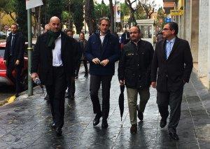 Íñigo de la Serna ha acompanyat Jordi Roca, Alejandro Fernández i José Luis Martín en la seva visita a Tarragona.