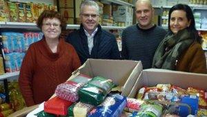 350 quilos d'aliments solidaris obtinguts al Parc Infantil de Nadal.