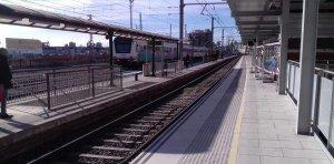 L'andana central, ja reformada, a l'estació de Tarragona.