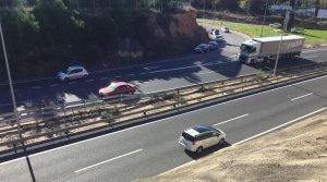 Imatge de la carretera A-7 a l'altura Tarragona