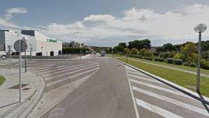 Imatge de la intersecció entre els carrers d'Ernest Lluch i de Ramon Salas i Ricomà.