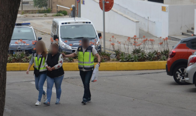 Lorena S. va ser detinguda per la Policia Nacional.