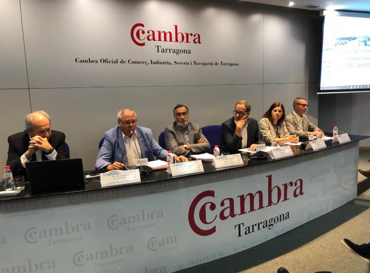 D'esquerra a dreta, Fèlix Boronat, Fèlix Alonso, Josep Maria Milà, Pere Macias, Manuela Moya i Eduald Roca