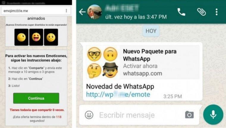 Desconfía de las aplicaciones de iconos en Whatsapp.