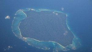 Isla Sentinel del Norte - Vista aérea