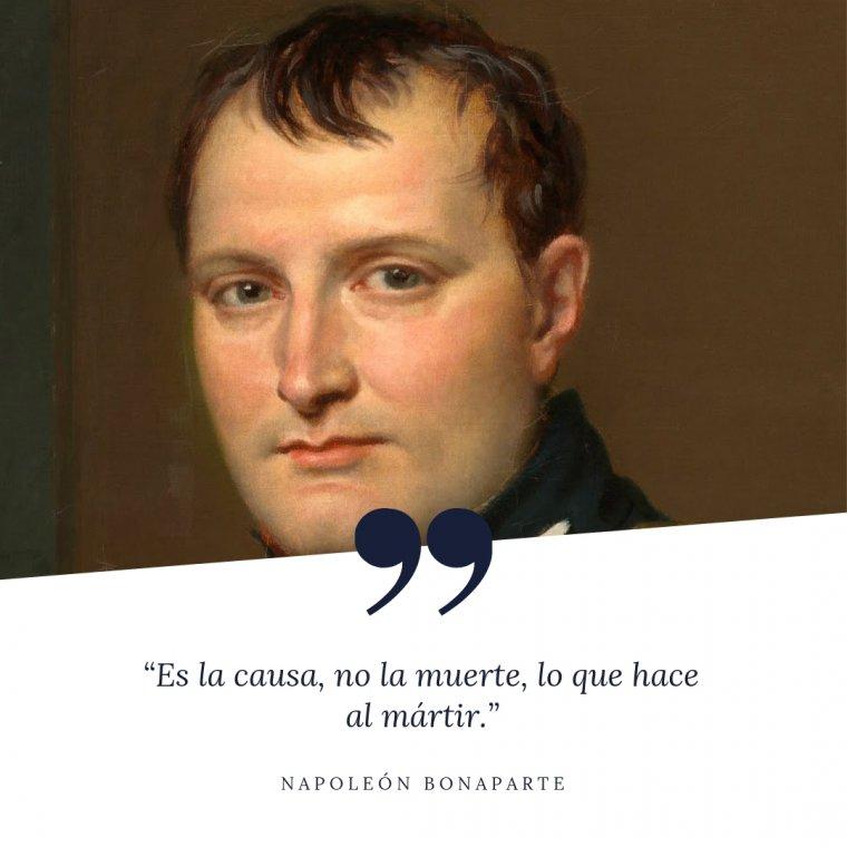 Frase de Napoleón.