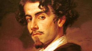 Retrato de Gustavo Adolfo Bécquer realizado por su hermano Valeriano.