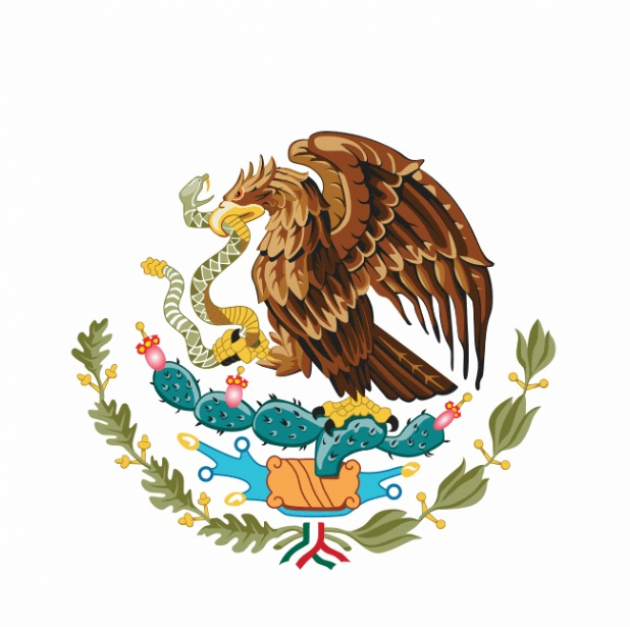 Detalles del escudo mexicano.