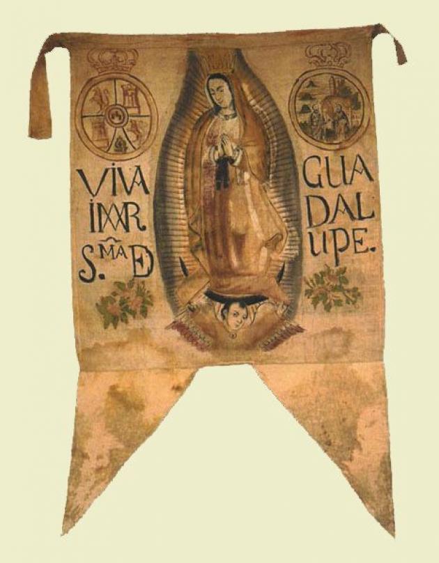 Estandarte de la Virgen de Guadalupe.