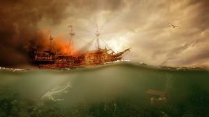 Conoce las partes de un barco pirata.