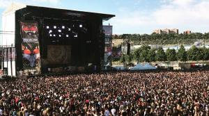 Escenario del Download Festival, en La Caja Mágica de Madrid.
