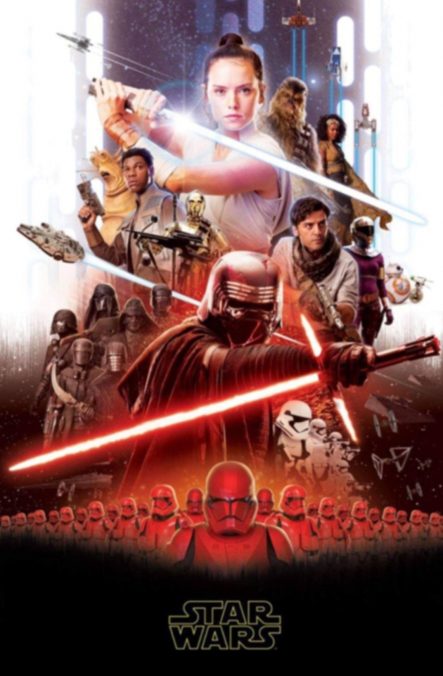 Póster filtrado de Star Wars.