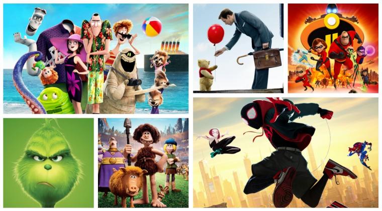 Los mejores estrenos de animación que vieron la luz en 2018.