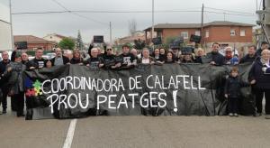 La Coordinadora de Calafell s'ha sumat a la protesta.