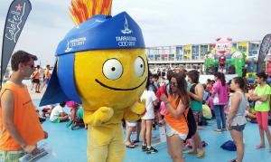La mascota dels Jocs Mediterranis de Tarragona va ser a Calafell.