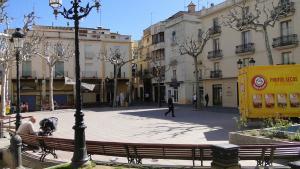 La plaça Nova del Vendrell.
