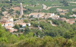 Vista del poble d'Albinyana.