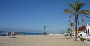 La platja de Sant Salvador del Vendrell.