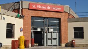 L'estació ferroviària de Sant Vicenç de Calders.
