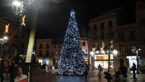 L'arbre de Nadal gegant de la plaça Nova del Vendrell.