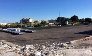 Les obres al camp de futbol de Calafell ja estan en marxa.