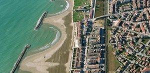 Vista aèria del litoral de Cunit.