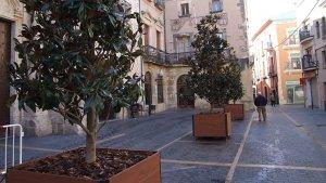 Imatge de les noves torretes de la plaça Vella