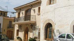 La façana de l'Ajuntament d'Albinyana.