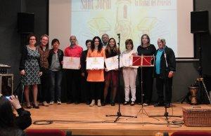 Els premiats al 9è Concurs Literari de Sant Jordi de la Bisbal.
