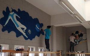 Grafits a l'escola Àngel Guimerà.