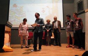Un instant de l'entrega de premis del Concurs Literari del 2016.