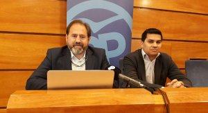 Els regidors del PP del Vendrell, Jero Merino i Miguel Ángel Cilleruelo.