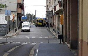 Les ambulàncies al Camí dels Molins del Vendrell.