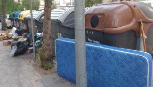 Deixalles al voltant d'uns contenidors a l'avinguda Palfuriana.