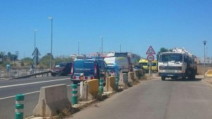 Imatge de la zona on ha tingut lloc l'accident.