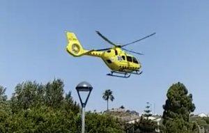 L'helicòpter s'ha traslladat al lloc dels fets.
