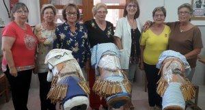 Alumnes del torn de dimarts de l'Escola de Puntaires de l'Arboç.