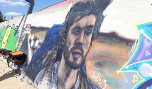 El grafit guanyador de l'anterior edició del Cultura Urbana.