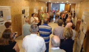 Imatge de la inauguració de l'exposició sobre Benvingut Socias.