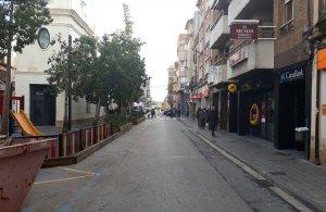 El carrer del Doctor Robert, aquest divendres al matí.
