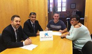 L'Ajuntament ha signat el conveni amb La Caixa.