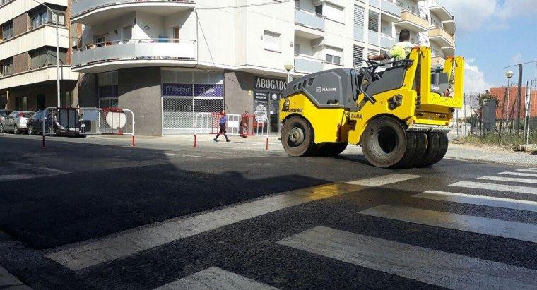 Un dels reductors de velocitat està a l'altura del carrer César Martinell.