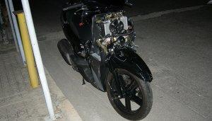 L'estat en què va quedar la motocicleta.