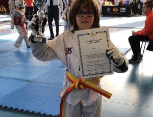 Una de les participants del Taekwondo La Lira Vendrellenca.