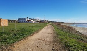 Zona on es farà el nou tram de Passeig Marítim de Cunit.