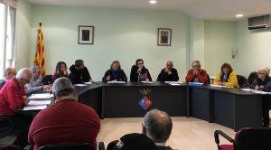 El ple on s'ha aprovat el pressupost pel 2018 de la Bisbal del Penedès.